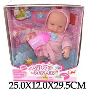 Shantou Gepai Пупс озвученный, 30см с аксессуарами 516-A куклы карапуз пупс 30см с 3 мя функциями с аксессуарами