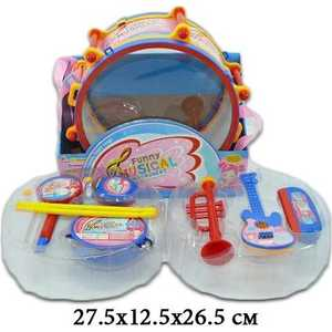Shantou Gepai Набор музыкальных инструментов в барабане, 7 предметов 7799E набор инструментов shantou gepai мамин помощник 14 предметов km 138b