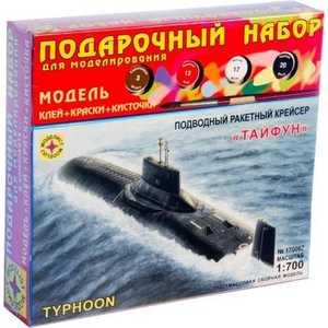 Моделист Модель подводный ракетный крейсер Тайфун, 1:700 ПН170067 сборная модель моделист крейсер курск пн170075