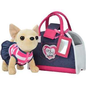 Chi Chi Love Плюшевая собачка Чихуахуа Джинсовый стиль, с сумкой, 20 см 5890599