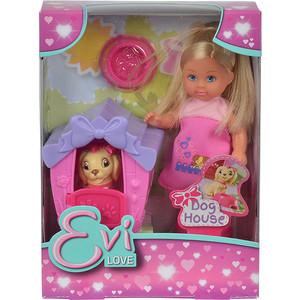 Smoby Кукла Еви с собачкой в домике 12 см., 5735867 smoby горка волна