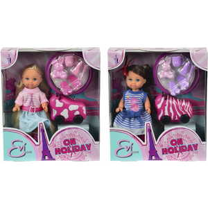 Smoby Кукла Еви с чемоданом на колесиках, 12 см., 5730942