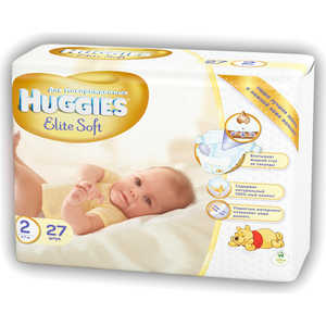 "Подгузники Huggies ""Elite Soft"" 4-7кг 27шт"