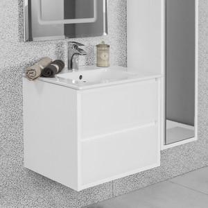 Тумба под раковину Акватон Римини 60 белая (1A177701RN010) акватон мебель для ванной акватон римини 80 белая
