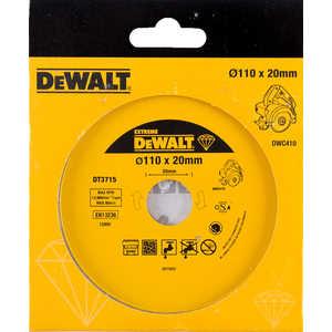 Диск алмазный DeWALT 110х22.2мм (DT 3715)