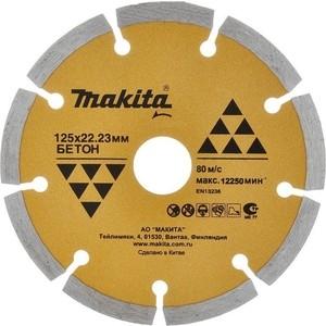 Диск алмазный Makita 230х22.2мм Эконом (D-41698) шлифкруг алмазный makita 100мм к100 d 15590