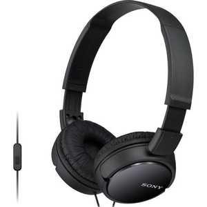 Наушники Sony MDR-ZX110AP black гарнитура sony mdr zx110ap white