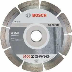 Фото - Диск алмазный Bosch 150х22.2 мм 10 шт Standard for Concrete (2.608.603.241) диск алмазный bosch 230х22 2 мм standard for stone 2 608 602 601