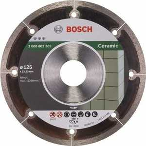 Диск алмазный Bosch 125х22.2 мм Best for Ceramic Extraclean (2.608.602.369)