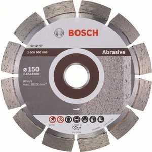 Диск алмазный Bosch 150х22.2 мм Expert for Abrasive (2.608.602.608) диск отрезной алмазный для угловых шлифмашин bosch professional for abrasive