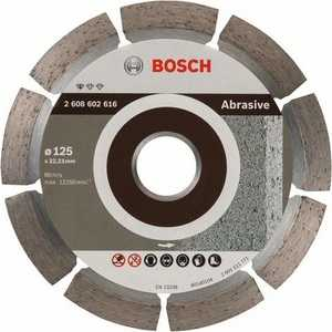 Диск алмазный Bosch 125х22.2 мм Standard for Abrasive (2.608.602.616) диск отрезной алмазный для угловых шлифмашин bosch professional for abrasive