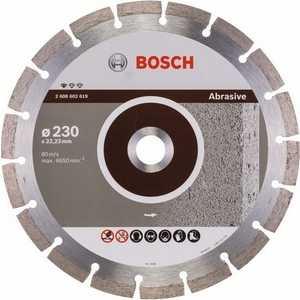 Диск алмазный Bosch 230х22.2 мм Standard for Abrasive (2.608.602.619) диск отрезной алмазный для угловых шлифмашин bosch professional for abrasive