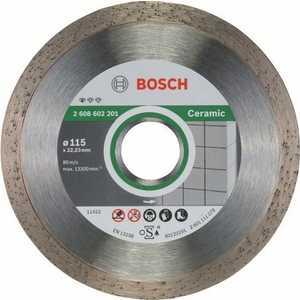 Диск алмазный Bosch 115.22.2 мм Standard for Ceramic (2.608.602.201) цена