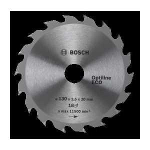 Диск пильный Bosch 130х20/16мм 36зубьев Optiline Eco (2.608.641.782) диск пильный bosch 230х30мм 36зубьев optiline wood 2 608 640 628