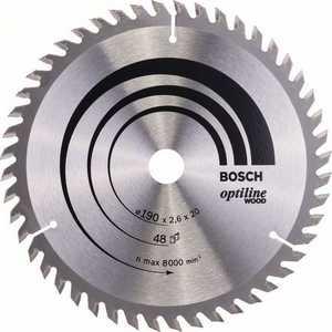 Диск пильный Bosch 190х20мм 48зубьев Optiline Wood (2.608.640.614)