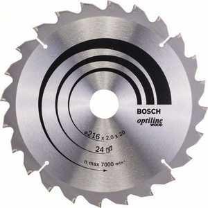 Диск пильный Bosch 216х30мм 24зуба Optiline Wood (2.608.640.431)