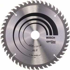 Диск пильный Bosch 235х30мм 48 зубьев Optiline Wood (2.608.640.727)