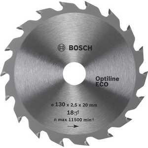 Диск пильный Bosch 254х30мм 80зубьев Optiline Eco (2.608.641.796)