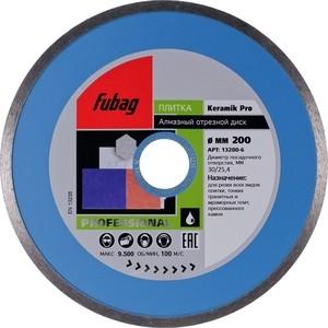 Фотография товара диск алмазный Fubag 200х30/25.4мм Keramik Pro (13200-6) (380605)