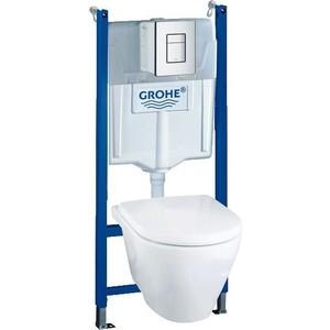 Комплект Grohe Lixil Solido инсталляция + унитаз с сиденьем микролифт (37442000)
