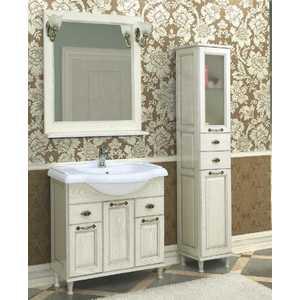 Комплект мебели Акватон Жерона 85 белое серебро пенал для ванной aquaton жерона левосторонний белое серебро