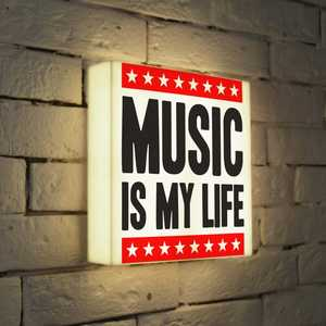 FotonioBox Лайтбокс Music is my life 25x25-072