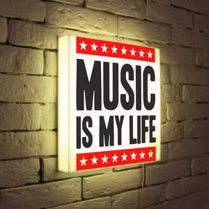 FotonioBox Лайтбокс Music is my life 35x35-072