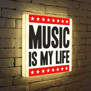 FotonioBox Лайтбокс Music is my life 45x45-072