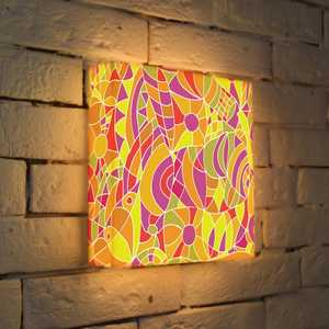 FotonioBox Лайтбокс Витраж 2 25x25-056 fotoniobox лайтбокс орнамент 2 25x25 074