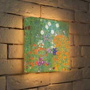 FotonioBox Лайтбокс ''Густав Климт ''Цветы'' 25x25-038