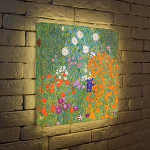 "FotonioBox Лайтбокс ""Густав Климт ""Цветы"" 45x45-038"
