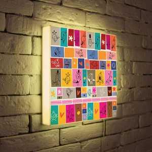 FotonioBox Лайтбокс ''Детский коллаж'' 35x35-078
