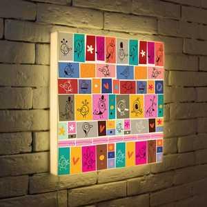 FotonioBox Лайтбокс Детский коллаж 45x45-078 лайтбокс круги 45x45 055
