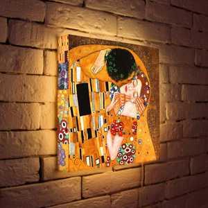 FotonioBox Лайтбокс Климт Поцелуй 35x35-124 cn 26 кружка поцелуй г климт 350 мл carmani