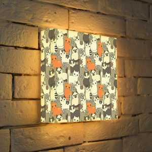 FotonioBox Лайтбокс Котята и клубочки 25x25-027 гостиная 027