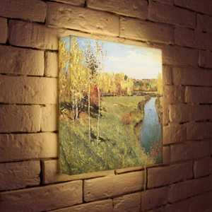 FotonioBox Лайтбокс Левитан Золотая осень 35x35-141