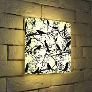 золото FotonioBox Лайтбокс ''Птицы зимой'' 25x25-021