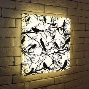 FotonioBox Лайтбокс Птицы зимой 45x45-021