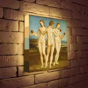 FotonioBox Лайтбокс ''Рафаэль ''Три грации'' 35x35-151