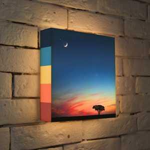 коричневый FotonioBox Лайтбокс ''Сказочный закат'' 25x25-102