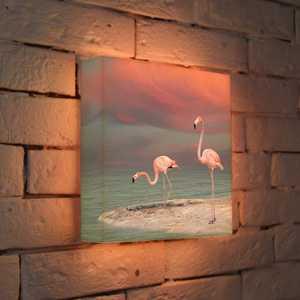 FotonioBox Лайтбокс ''Фламинго'' 25x25-022