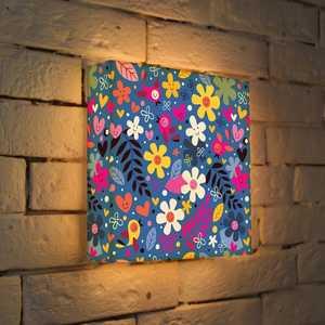 FotonioBox Лайтбокс ''Цветочки и птички'' 25x25-011