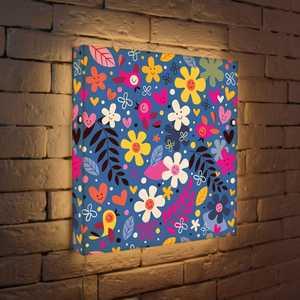 FotonioBox Лайтбокс Цветочки и птички 45x45-011