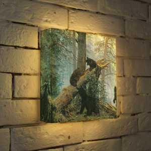 FotonioBox Лайтбокс ''Шишкин ''Утро в сосновом лесу'' 25x25-152