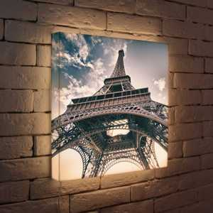 FotonioBox Лайтбокс Эйфелева башня 45x45-023 пазлы magic pazle объемный 3d пазл эйфелева башня 78x38x35 см