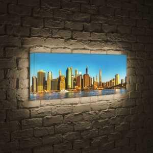 boxpop лайтбокс для гостиной или спальни рассвет 35x105 p021 FotonioBox Лайтбокс панорамный NYC 35x105-p004