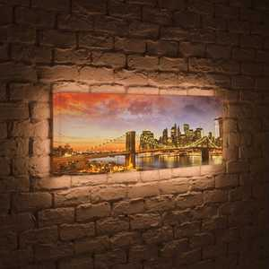 FotonioBox Лайтбокс панорамный Бруклинский мост 45x135-p007 fotoniobox лайтбокс панорамный медный всадник 45x135 p031