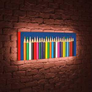 boxpop лайтбокс для гостиной или спальни рассвет 35x105 p021 FotonioBox Лайтбокс панорамный Карандаши 35x105-p027