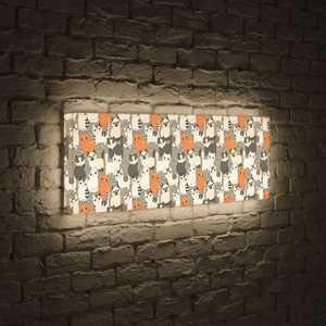 boxpop лайтбокс для гостиной или спальни рассвет 35x105 p021 FotonioBox Лайтбокс панорамный Котики 35x105-p013