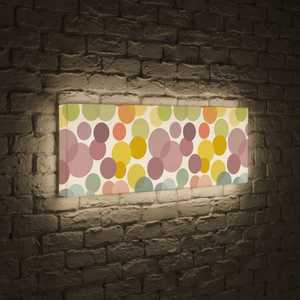 boxpop лайтбокс для гостиной или спальни рассвет 35x105 p021 FotonioBox Лайтбокс панорамный Круги 35x105-p010